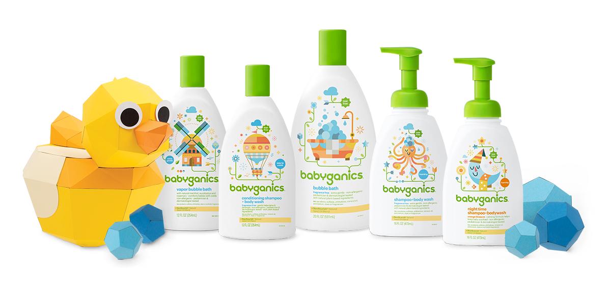 babyganics tear-free, non-allergenic and pediatrician- and dermatologist-tested bath baby shampoo, body wash and bubble bath