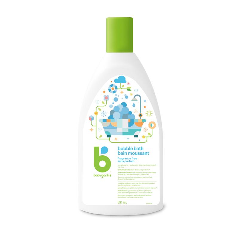 bain moussant sans parfum babyganics