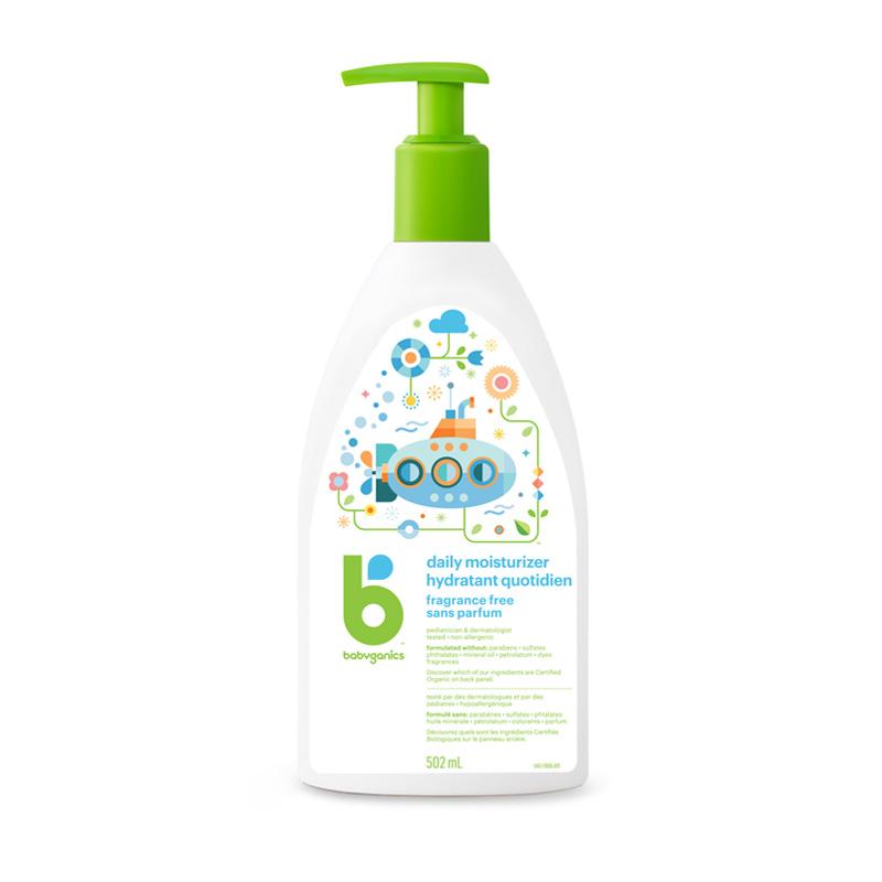 lotion hydratante quotidienne babyganics, sans parfum