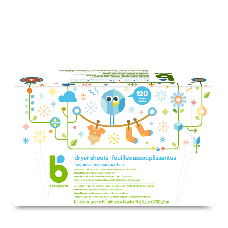 babyganics Dryer Sheets, Fragrance Free