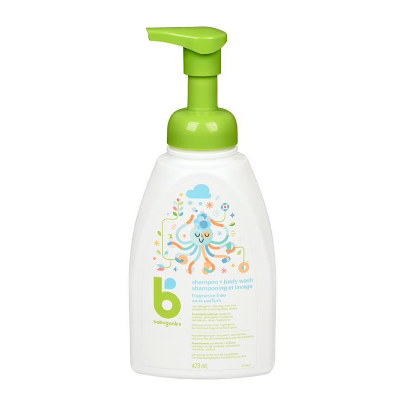 shampooing corps et cheveux revitalisant sans parfum